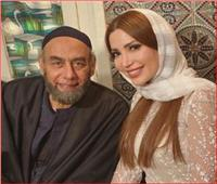 نسرين طافش تظهر بـ«الحجاب» بجانب أحمد بدير