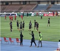 إحماء منتخب مصر قبل مواجهة كينيا