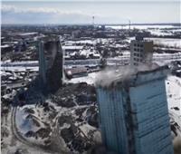 تفجير برجين قديمين بـ«روسيا» يتسبب فى انقطاع الكهرباء| فيديو