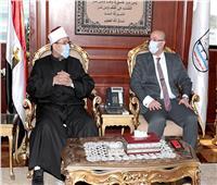 صور| محافظ بني سويف يستقبل وزير الأوقاف