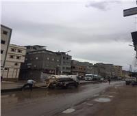 محافظ دمياط تتابع أعمال رفع تجمعات مياه الأمطار