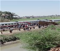 ننشر اللقطات الأولى من حادث قطار سوهاج..فيديو