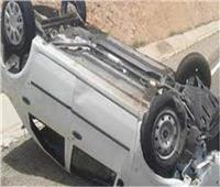 إصابة طالبين في حادث انقلاب سيارة بالمنيا