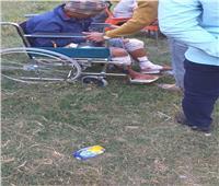 ننشر أول صورة لأحد المصابين في حادث قطار سوهاج