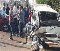 إصابة 6 أشخاص في تصادم سيارتين بالشرقية