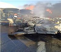 مصرع شخص وإصابة آخر في حادث تصادم سيارتين بالسخنة
