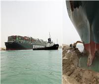 خاص بالفيديو.. بدء محاولة تحريك السفينة الجانحة بقناة السويس.. ومؤشرات إيجابية للتعويم