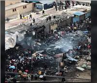 أول صورة للمحلات داخل نفق عرابي بمحطة الزقازيق بعد السيطرة على الحريق