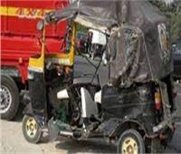مصرع شخص فى حادث تصادم أمام قرية معنيا بالبحيرة