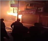 اندلاع حريق هائل في منزل بالمنيا