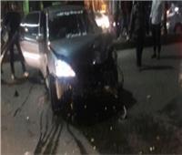 إصابة شخصين في حادث تصادم بالمنيا