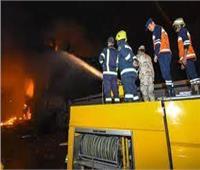 إخماد حريق بحظيرة مواشي بملوي في المنيا