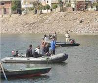البحث عن عامل وحفيده بعد غرقهما في نهر النيل بقنا