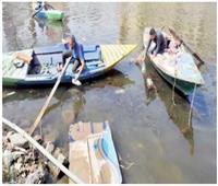 مخلفات النيل رزق صيادى القرصاية