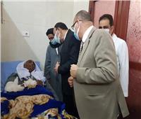 وفد من جامعة الأزهر فرع أسيوط يزور مصابي حادث قطاري سوهاج