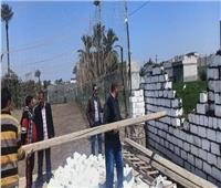 رفع 40 طن مخلفات زراعية في المنيا