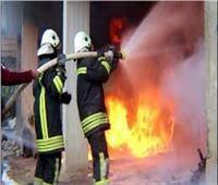 إخماد حريق داخل محل تجاري في حلوان