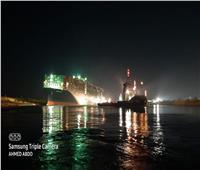 بدء مناورات تعويم السفينة الجانحة في قناة السويس بـ 10 قاطرات