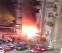 حريق هائل بمخزن في أحد العقارات بالجيزة.. والحماية المدنية تحاول السيطرة عليه