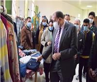 معرض خيري للملابس لذوي الاحتياجات الخاصة في جامعة بني سويف