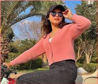 ريهام أيمن تستمتع بوقتها على الدراجة | صور