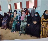 استخراج الرقم القومى بالمجان لـ٢٤٠ سيدة بقري «حياة كريمة» في المنوفية