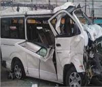 إصابة سائق في حادث تصام بالمنيا