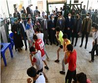 وزير الرياضة ومحافظ المنيا يلتقيان لاعبي المشروع القومي للموهبة والبطل الاوليمبي