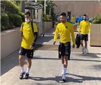 بعثة بيراميدز تتحرك لملعب «كهرما» استعدادا للرجاء المغربي