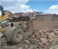 إزالات فورية للتعدي على الأراضي الزراعية بقرى منوف بالمنوفية