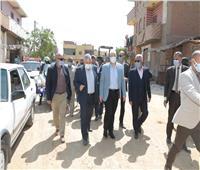 محافظ بني سويف يتفقد مشروعات حياة كريمة بقرى مركز ناصر