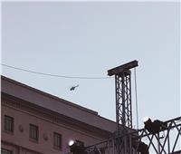 طائرات القوات الجوية تحلق في سماء التحرير لتأمين موكب المومياوات الملكية