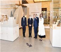 الرئيس السيسي يتجول داخل أروقة متحف الحضارة |صور