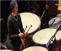 """عازفة «التمباني» في حفل المومياوات: """"شدة فخري بالحدث جعلني أعزف بكل جوارحي"""""""