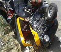 مصرع شخصين إثر اصطدام توك توك بسيارة نقل في الدقهلية