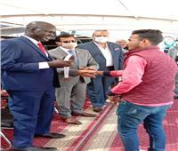 وزيرا الرياضة ونظيره الجنوب سودانييكرمان طلاب جامعة السادات