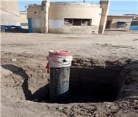 تواصل أعمال «حياة كريمة» في قطاع المياه والصرف الصحي بقرى الشهداء | صور