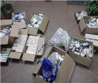 ضبط كمية كبيرة من الأدوية مهربة جمركيا بالقاهرة   صور