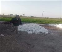 إزالة 7 حالات تعدي علي نهر النيل بقرى المنيا