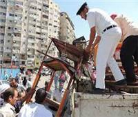تحرير 164 محضر إشغال طريق بالجيزة