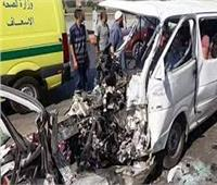 إصابة 10 أشخاص فى حادث تصادم بأسوان