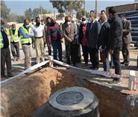 متابعة أعمال الصرف الصحي بقرى المنيا ضمن مبادرة حياة كريمة
