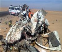 مصرع زوجين في حادث تصادم بطريق دهشور
