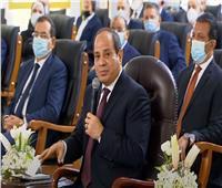 فيديو| الرئيس السيسي للمصريين: لازم نخلي بالنا من كل نقطة مياه