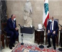 شكري يسلم الرئيس اللبناني رسالة تضامن من الرئيس السيسي