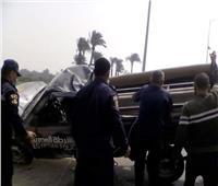 إصابة 6 مجندين في انقلاب سيارة شرطة ببني سويف