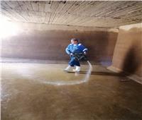 صور| رئيس مياه القناة: مستمرون في غسيل الخزانات استعدادا لفصل الصيف