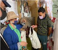 وزيرة البيئة تقوم بجولة للتوعية بخطورة الأكياس البلاستيكة بـ«دهب»