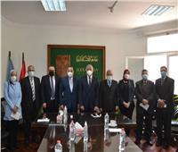 الهيئة القومية لضمان جودة التعليم والاعتماد في زيارة لجامعة الإسكندرية