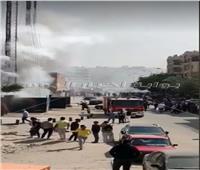 نشوب حريق في برج اتصالات خلف كارفورالمعادي | صور